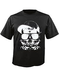"T-Shirt ""BAD BONES CREW BASE CAP SONNENBRILLE SKULL BIKERSHIRT GOTHIC BIKE CLUB MC MOTORCYCLE CHOPPER CUSTOM MOTORRAD MOTORRADTREFFEN CLUB TREFFEN"" in Schwarz"
