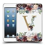 Head Case Designs Offizielle Nature Magick V Blumen Monogramm Blumig Gold 2 Soft Gel Hülle für iPad Mini 1 / Mini 2 / Mini 3