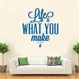 Hoopoe Decor Life is what you make it Wa...