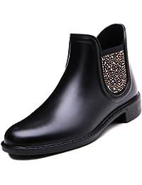 Brooklyn Walk Women New Arrival Paula Women's Ankle Boots Rhinestone Gum Boots Waterproof Rain Boots 36-40 EU