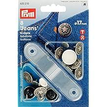 Prym - Botones para vaqueros, 17 mm, altsilber, 8 Stück