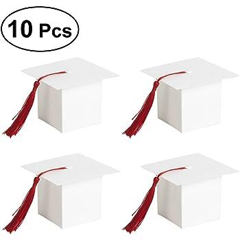 OULII 24Pcs Contenitore di regalo a forma di cappello di laurea Contenitore  di cioccolatini a forma di zucchero ... 1184c4877440