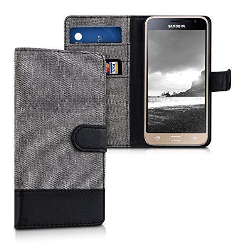 kwmobile Samsung Galaxy J3 (2016) DUOS Hülle - Kunstleder Wallet Case für Samsung Galaxy J3 (2016) DUOS mit Kartenfächern und Stand