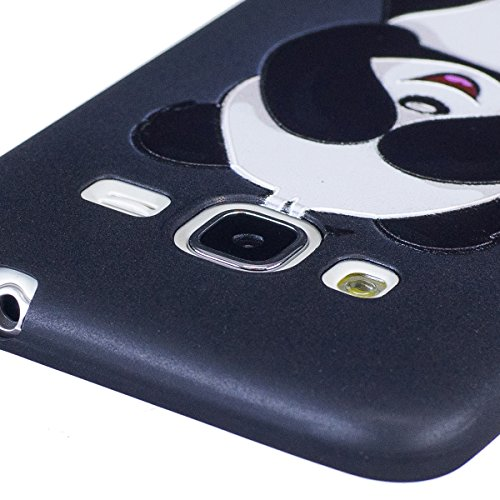 Coque Galaxy J3 2016, Étui Galaxy J3 2016, ISAKEN Coque pour Samsung Galaxy J3 2015/2016 - Étui Housse Téléphone le soulagement Étui TPU Silicone Souple Coque Ultra Mince Gel Doux Housse Motif Arrière panda