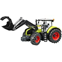 BRUDER - 03013 - Tracteur CLAAS Axion 950 vert avec fourche