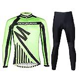 Weitituoli Lodestar Herren Radtrikot Anzug Langarm und Hosen Mountainbike Rennrad Shirt Strumpfhosen gepolstert Biking Outfit