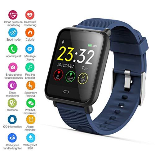 EJOLG IP67 Wasserdichte Smartwatch Unisex,mit Fitness trackers Pulsmesser Kalorienzähler schrittzähler usw.Unterstützt Mehrere Sprache,Damen und Herren Fitness Armband Uhr,D