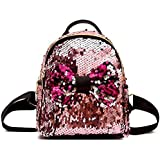 DIVING DEEP Small 10 Ltrs Backpack Womens kids Girls Sequins Mini Small Picnic Outdoor /Tutions/ college Backpack for Girls(P