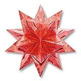 Folia Bascetta Stern 'Winterornament', 15x15cm, rot/gold, 32-teilig (1 Set)
