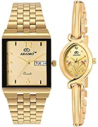 ADAMO Enchant Analog Gold Dial Unisex Watch - 2251-1918YM04