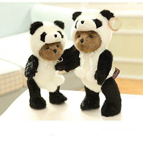 YunNasi Luxus Plüsch Panda Pandabär Cosplay Kostüm Netter und knuddeliger kleiner Teddybär Baby Plüsch Super Soft Spielzeug Puppe 35CM