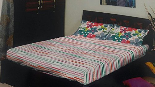 Stellar Home Usa Adoria Printed Multicolor Single Bedsheet With Pillow Cover  available at amazon for Rs.679