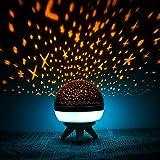Zmoon Nachtlicht Projektor, Bunte Sterne Licht Rotierenden Projektor für Baby Kinderzimmer Schlafzimmer Kinder Zimmer Kinder Geschenk