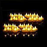 Everbrite LED Kerzen mit beweglicher Flamme, Romantische Echt Flammen Effekt LED Echtwachskerzen für Party und Haushalt 48 Stück