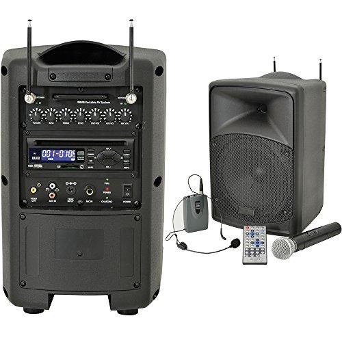 50W 20,3cm Outdoor portatile PA sistema di altoparlanti e microfono senza fili–Kit Bluetooth batteria