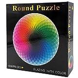 CYBERNOVA Puzzle intellettuale Rotondo da 1000 Pezzi Gioco tavolozza Arcobaleno per Adulti e Bambini