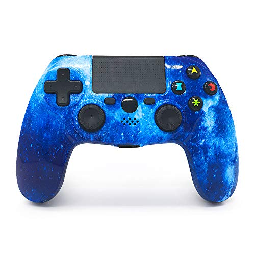 PS4 Controller Wireless Gaming Controller PS4 Double Vibration Bluetooth Game Controller with Touch Pad High-Precision Joysticks for Playstation 4( Universe Blue, 2019 Newest)