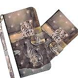 COTDINFOR Nokia 3.1 Plus Case Wallet Cool Animal 3D Effect