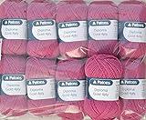 Schachenmayr Patons 500g Sockenwolle Paket, 10x50g Patons Diploma Gold 4ply Fb. 04294 - Erika, Wollpaket Sockenwolle Zum Stricken und Häkeln