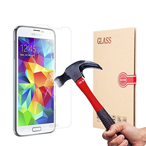 GlassPro+ Samsung Galaxy A7 SM-A700F Glas Folie Tempered Glass Screen Protector Schutzfolie Panzerglas 0,26mm Panzerfolie Displayschutzfolie Schutzglas Verbundglas Klar Anti-Kratz-Screen Protector Displayschutz Gehärtetes Schutzglas incl. Reinigungs-Kit