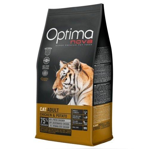 optima nova grain free gato pollo y patata 8kg