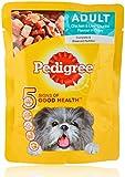 Pedigree Adult Dog Food Chicken & Liver Chunks Flavour in Gravy, 80 g