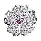 Damen-Charm Sterling-Silber 925 Primelwiese Blumen Bead Charm für Armband