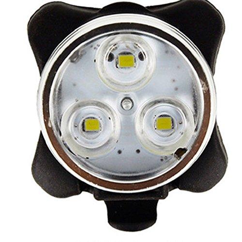 Lumières de vélo rechargeables d'USB LED, 3 phares de vélo / feu arrière de LED, 4 modes légers, 160lm, résistant à l'eau, lumière de bicyclette avant / arrière s'adapte à tous les vélos, vélo de route