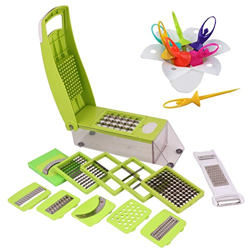 Combo Of Slicer Dicer 14 Pcs And Barbie Doll Fruit Fork
