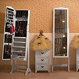 Songmics-Armario-para-joyas-con-espejo-158-cm-color-blanco-y-negro