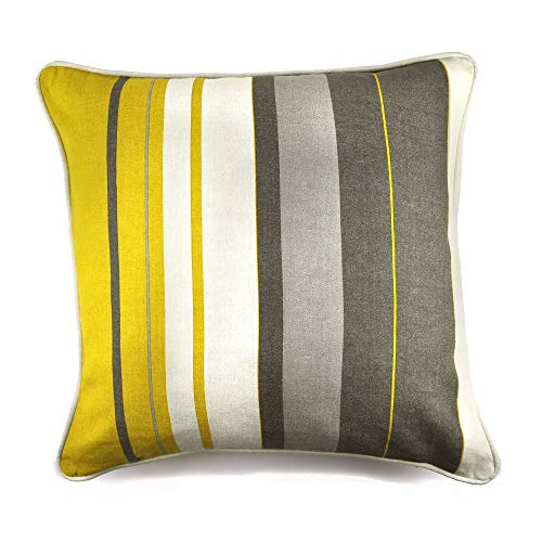 Fusion Whitworth Stripe Housse de Coussin, 100% Coton, Ocre, 43x43cm (17x17)