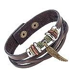 AZUO Männer Und Frauen Kreative Hand Made Genuine Leder Armbänder, Männer Und Frauen General Purpose Weave Adjustable Retro Wing Armband Cuff Cuff Rope Zubehör Geschenk