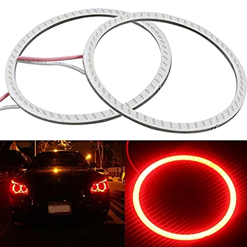 Everbright 2 Pcs Weiß Auto Angel Eye COB Licht Kreis Ring Scheinwerfer Lampe 12 V