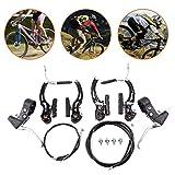 BMX Mountain Bike Bremsenset mit Bremshebel V-Bremse Bremsenzuge Felgenbremse vorne und hinten Kabel