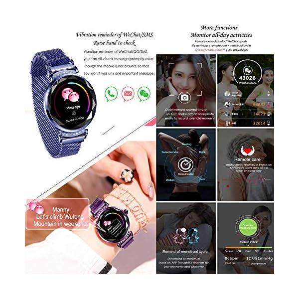 wetwgvsa Fitness Tracker Reloj Pulsera presión Sanguigna pulsómetro de muñeca Actividad Tracker Smartwatch H2 Monitor… 6