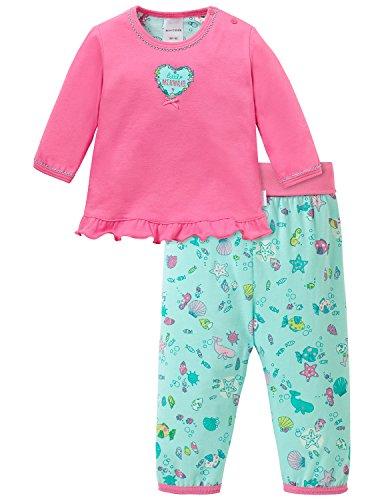 Schiesser Baby - Mädchen Zweiteiliger Schlafanzug Baby Anzug 2 - teilig, Gr. 68, Rot (pink 504)