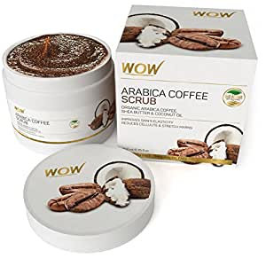 WOW Arabica Coffee Scrub -Organic Arabica Coffee,Shea Butter & Coconut Oil -No Paraben & Mineral Oils
