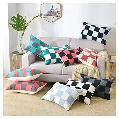 Yuhualiyi123 40 * 60cm Nordic Einfach Wohnzimmer Schlafsofa Kissen Bürostuhl Lendenkissen Kissen Ramie Kissen Kern (Color : Black+Gray)