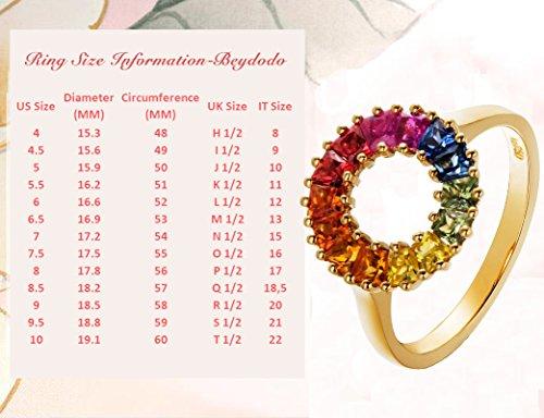 Beydodo 18 Karat (750) Gelbgold Ring Damen Solitärring 1.4ct Saphir Diamant-Ring Trapezschliff Gold Ehering Verlobungsringe Größe 57 (18.1) (Saphir Ring Gelbgold Plattiert)