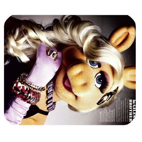 le Non-Slip Rubber Mousepad Gaming Mouse Pad / Mat- The Muppets Miss Piggy ()