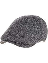 WITHMOONS Sombreros gorras Boinas Bombines Mens Flat Cap Simple Classic Bocaci Wool Ivy Hat SL3436