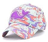Roffatide Dauphin Rustine Camouflage Casquettes de Baseball Réglable Chapeau de Soleil pour Garçons Filles Enfant Violet
