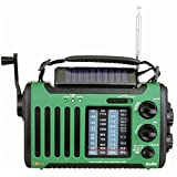Kaito Voyager Solo KA450 Solar/Dynamo AM/FM//SW & NOAA Weather Emergency Radio with Alert & Cell Phone Charger, Color Green