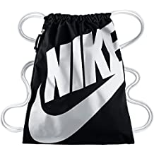 Nike Heritage Gymsack - Bolsa, color Negro / Blanco, talla Única (43 cm x 33 cm)