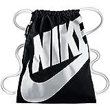 Nike Heritage Sacco da Palestra, Unisex, Multicolore (Black/White), Taglia unica (43 cm x 33 cm)