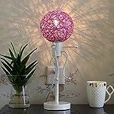 XUANLAN Kreative Gartenschnur takraw Lampe, Nachttischlampe LED moderne Einfachheit, energiesparende dekorative Lampe Wohnzimmer Schlafzimmer, 44 * 18cm ( Color : Purple )