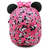 Disney Mickey Minnie Mouse Dome Small Backpack with a Removable Strap to Prevent Children from Going Missing