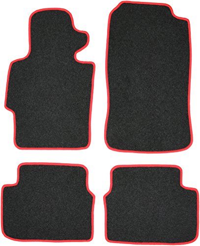 CaTex 34000450200NR Lux Alfombras, Negro / Rojo