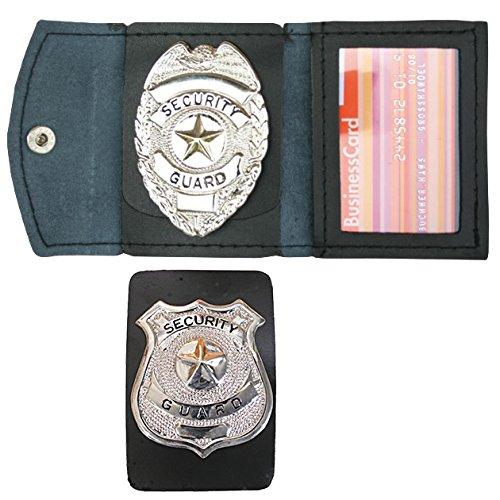 G8DS® Abzeichen-Etui Ausweis Officer Guard 2133 + Security Abzeichen zur Auswahl (Security-Guard-Abzeichen in Chrom 2047) (Security Abzeichen)