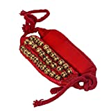 #8: Divine Gifts 3 Line Red Cloth Pad Ghungroo